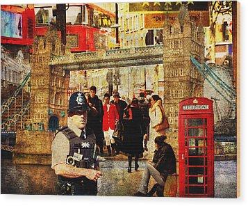 Iconic London Wood Print by Judi Saunders