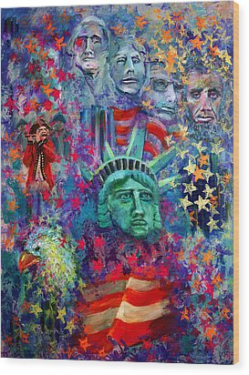 Icons Of Freedom Wood Print by Peter Bonk