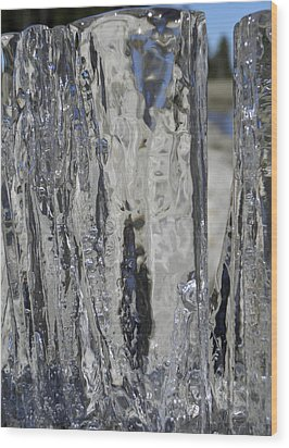 Wood Print featuring the photograph Icy Beach View 4 by Sami Tiainen