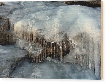 Wood Print featuring the photograph Icy Cold by Lynn Bawden
