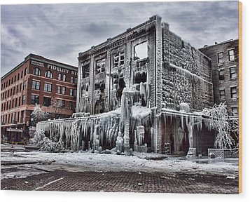Icy Remains - After The Fire Wood Print