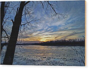 Wood Print featuring the photograph Icy River by Cricket Hackmann