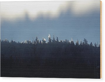 Icy Sunrise Wood Print