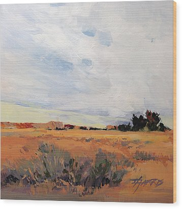 Wood Print featuring the painting Idaho by Helen Harris