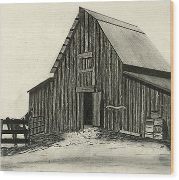 Idaho Warmth Wood Print by Bryan Baumeister