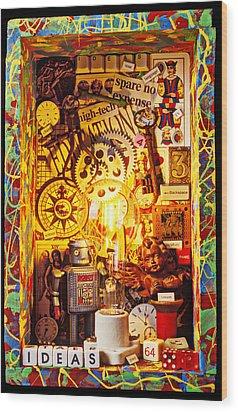 Ideas Wood Print by Garry Gay