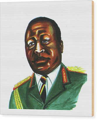 Idi Amin Dada Wood Print