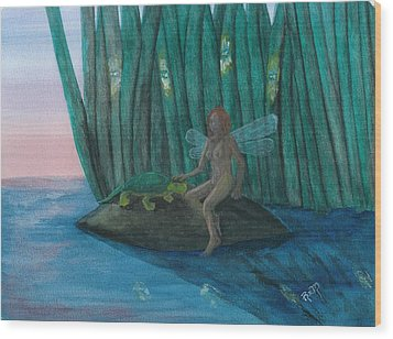 Idly Watching Fireflies...no. Two Wood Print by Robert Meszaros