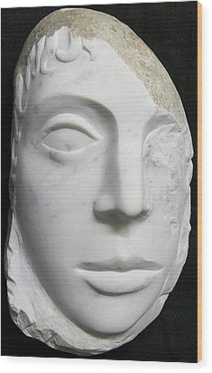 Idol Of Cydonia Wood Print by Marino Ceccarelli Sculptor