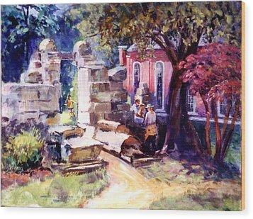 Idyllic Landscape Wood Print by Stan Esson