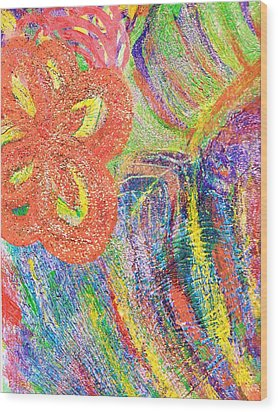 If Colors Were Sounds  Wood Print by Anne-Elizabeth Whiteway