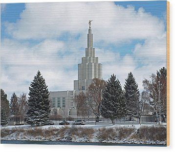 If Temple After Snow Wood Print