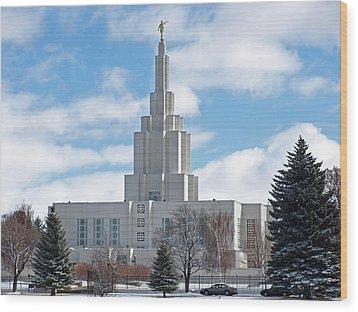 If Temple Against The Sky Wood Print by DeeLon Merritt