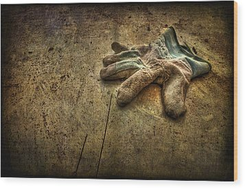 If The Glove Doesn't Fit........ Wood Print by Evelina Kremsdorf