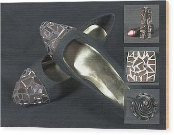 If The Shoe Fits...... Wood Print by Diane Morizio