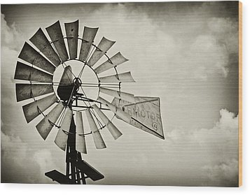 If Windmills Could Talk Wood Print by Tony Grider