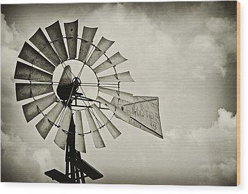 If Windmills Could Talk Wood Print