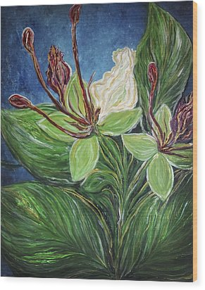 Ifit Flower Guam Wood Print