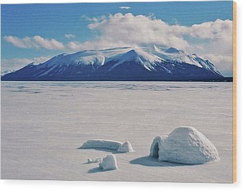 Igloo On Atlin Lake - Bc Wood Print by Juergen Weiss