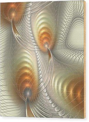 Wood Print featuring the digital art Ignis Fatuus by Anastasiya Malakhova