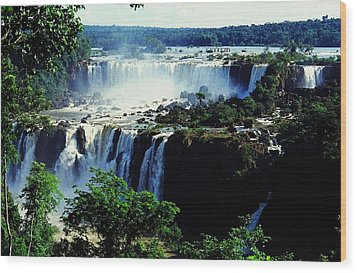 Iguacu Waterfalls Wood Print by Juergen Weiss