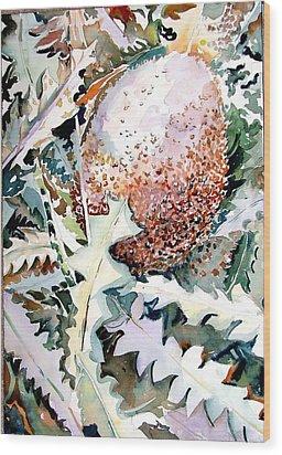 Ikabani Wood Print by Mindy Newman