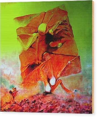 Ikar Wood Print by Henryk Gorecki