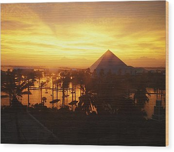 Wood Print featuring the photograph Ike Sunset by John Collins