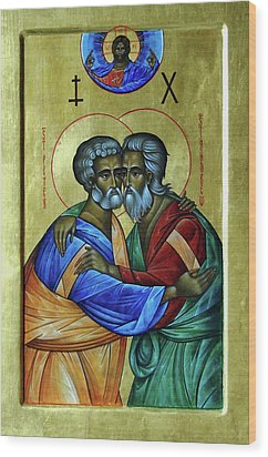 Wood Print featuring the photograph Ikon Sts. Peter And Andrew by John Schneider