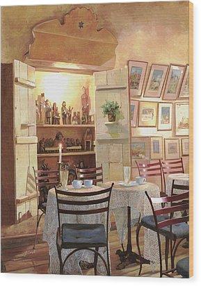 Il Caffe Dell'armadio Wood Print by Guido Borelli