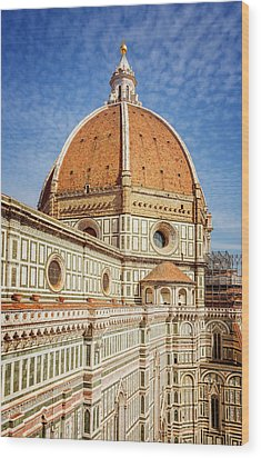 Wood Print featuring the photograph Il Duomo Florence Italy by Joan Carroll