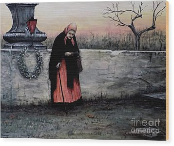 Il Monumento Wood Print by Judy Kirouac