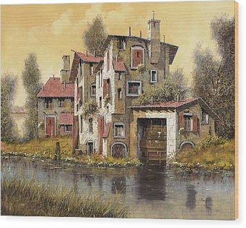 Il Mulino Giallo Wood Print by Guido Borelli