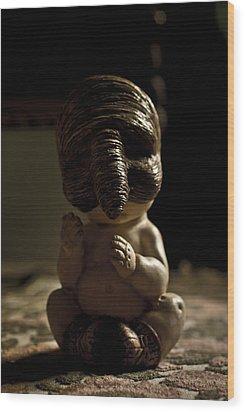Il Piccolo Budda Wood Print by Francesca Dalla benetta