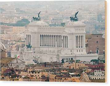 Il Vittoriano Wood Print by Andy Smy