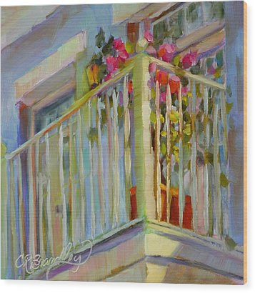 I'll Leave The Porch Light On Wood Print by Chris Brandley