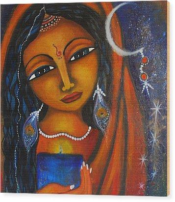Wood Print featuring the painting Illuminate by Prerna Poojara