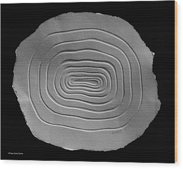 Wood Print featuring the relief Illusion by Suhas Tavkar