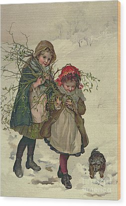 Illustration From Christmas Tree Fairy Wood Print by Lizzie Mack