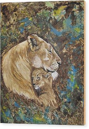 Ilsa And Sasha Wood Print by Maris Sherwood