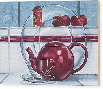 I'm A Little Teapot Wood Print by Jane Loveall