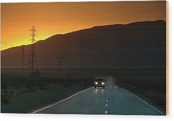 Wood Print featuring the photograph I'm Going Home Ten Years After by Peter Thoeny