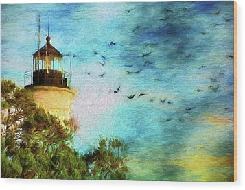Wood Print featuring the photograph I'm Here To Watch You Soar II by Jan Amiss Photography