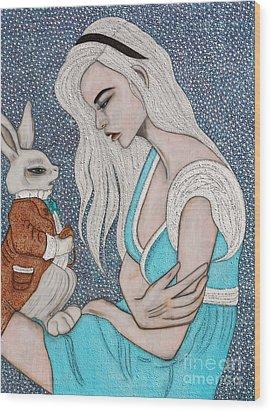 I'm Late Wood Print by Natalie Briney