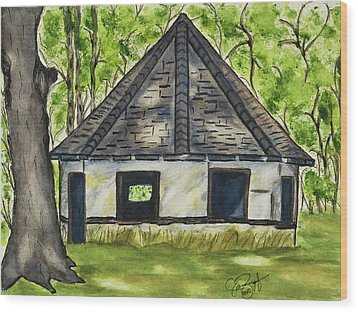 I'm Still Standing Wood Print by Joan Zepf