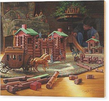 Imagination Final Frontier Wood Print by Greg Olsen