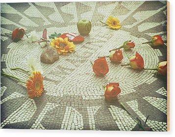 Imagine Wood Print by Ariane Moshayedi