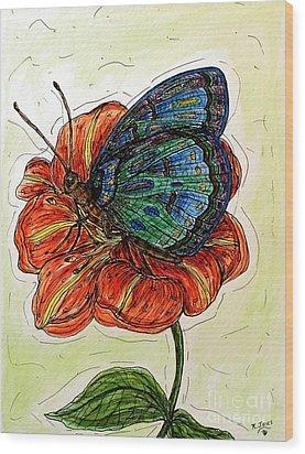 Imagine Butterflies A Wood Print