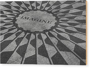 Imagine Wood Print by Jerrett Dornbusch
