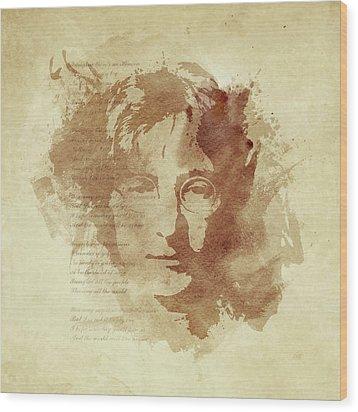 Imagine Wood Print by Laurence Adamson